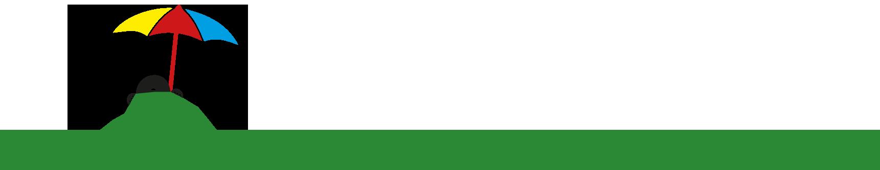 REISEMAULWURF Logo mit Sonnenschirm
